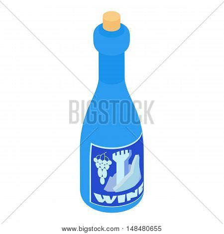 Bottle of wine icon in cartoon style isolated on white background. Drink symbol vector illustration