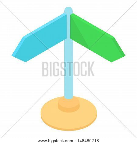 Road sign icon in cartoon style isolated on white background. Travel and navigation symbol vector illustration