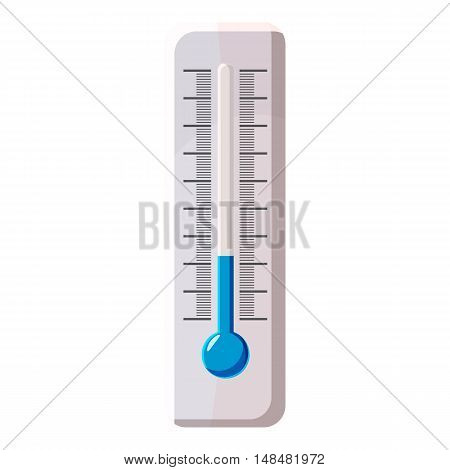 Thermometer icon in cartoon style isolated on white background. Measurement symbol vector illustration