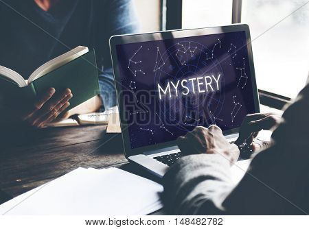 Mystery Planets Horoscope Astrology Concept