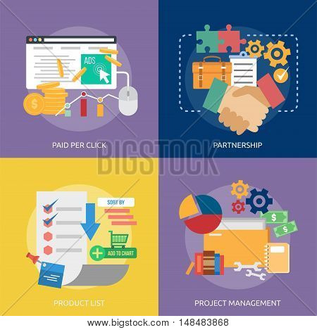 Business Concept Design   Set of great vertical banner flat design illustration concepts for business, people, marketing, working, idea, event and much more.