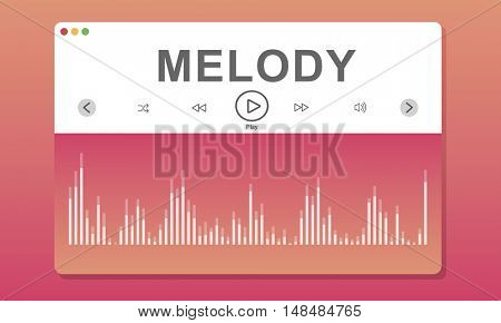 Wareform Program Melody Music Concept
