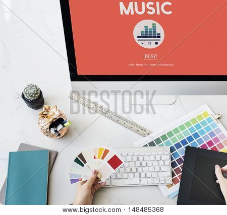 Music Melody Rhythm Instruments Vocal Sound Concept