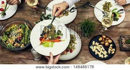 Meal Restaurant Party Foodie Luncheon Concept