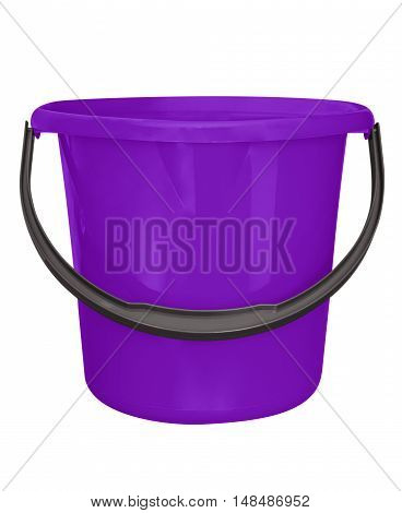 Plastic Bucket Isolated - Violet