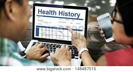 Health History Patient Document Form Concept