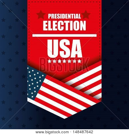 presidential election usa banner graphic vector illustration eps 10