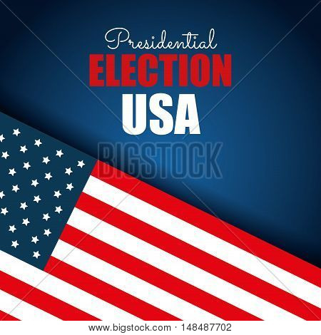 flag usa election presidential blue background graphic vector illustration eps 10