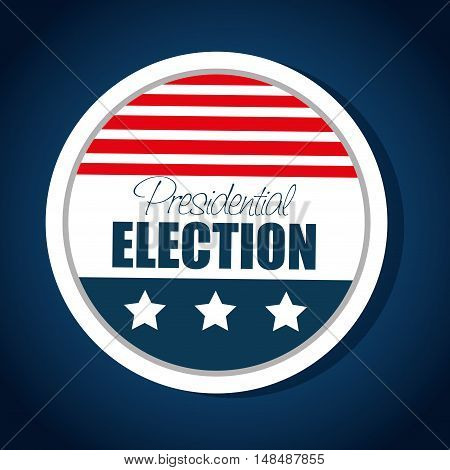 button flag usa election presidential graphic vector illustration eps 10