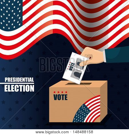 icon voting box election presidential graphic vector illustration eps 10