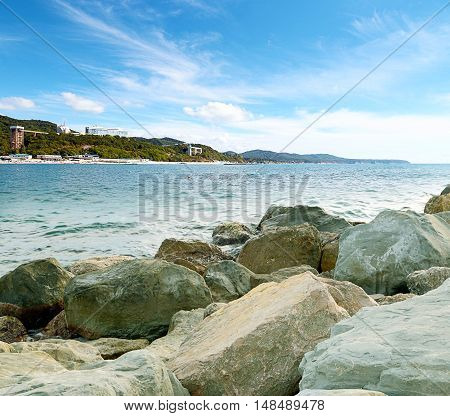 a beautiful seaside village of Nebug, Krasnodar Krai, Russia