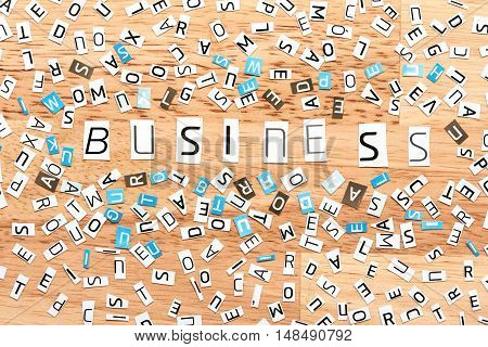 Business Word From Cut Out Letters