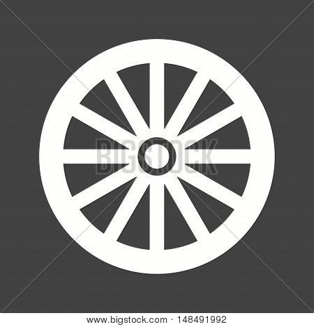 Wheel, west, cart icon vector image. Can also be used for wild west. Suitable for web apps, mobile apps and print media.