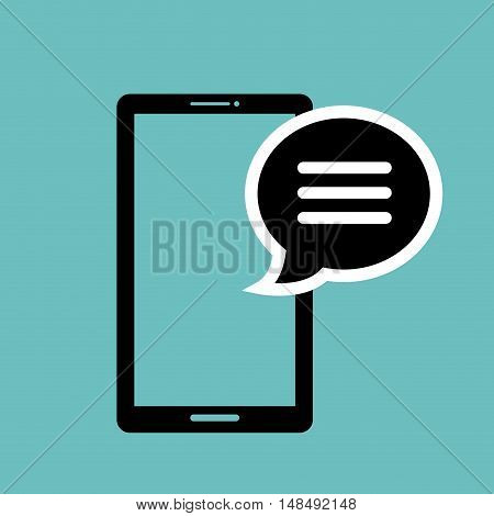 icon smartphone bubble speech graphic isolated vector illustration eps 10