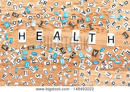 Health Word From Cut Out Letters