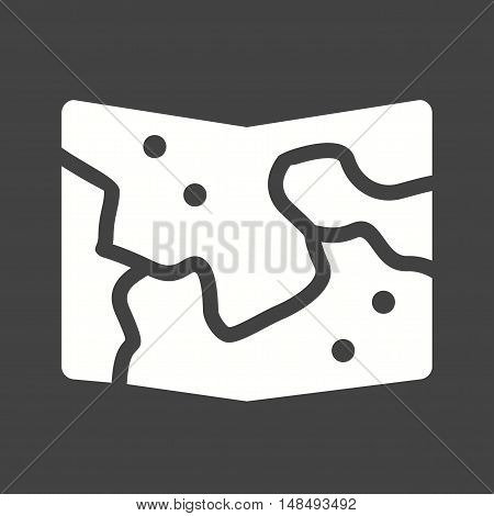 Map, destination, route icon vector image. Can also be used for wild west. Suitable for mobile apps, web apps and print media.