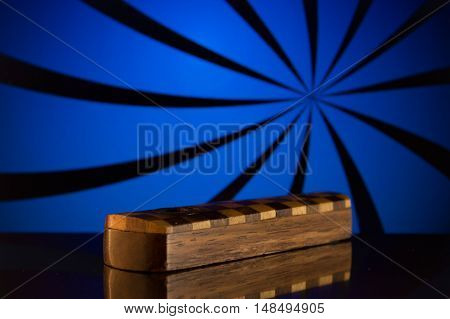Wooden pipe for tobacco smoking on a bright background