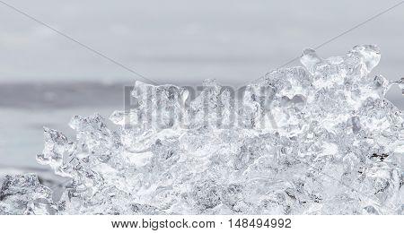 Close-up Of Melting Ice In Jokulsarlon - Iceland