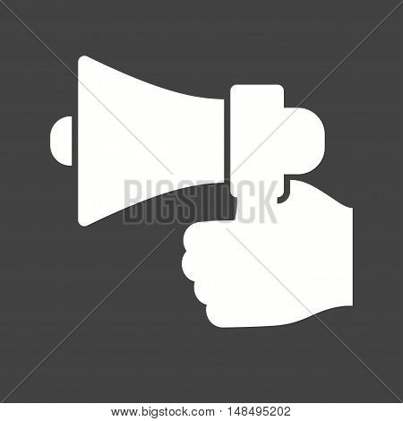 Results, speaker, announcement icon vector image.Can also be used for hand actions. Suitable for web apps, mobile apps and print media.