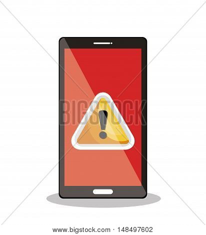 icon warning smartphone alert isolated graphic vector illustration eps 10