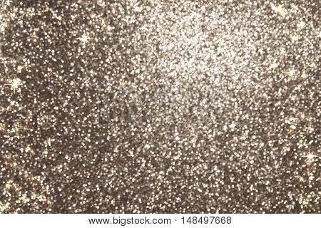 silver gold glitter christmas abstract holiday background with sparkling shining stars