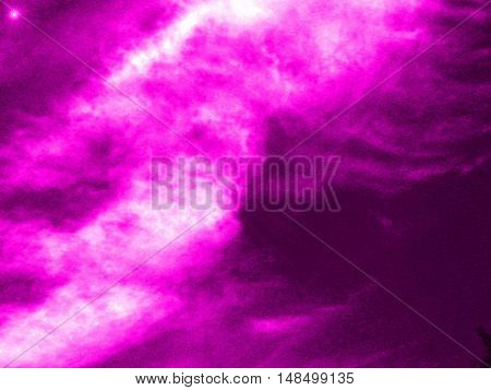 in bright blue and pink clouds in the sky and starin bright blue and pink clouds in the sky and star