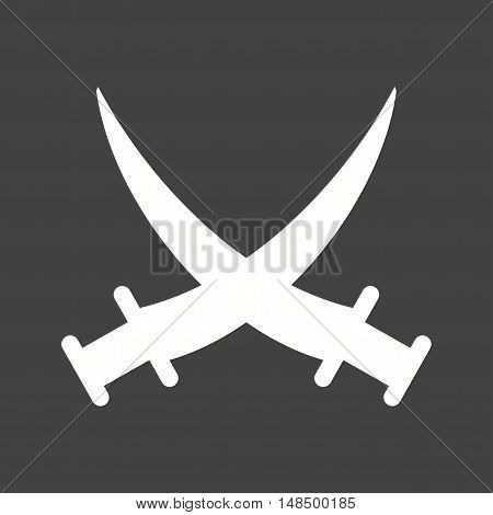 Swords, battle, two icon vector image. Can also be used for islamic. Suitable for mobile apps, web apps and print media.