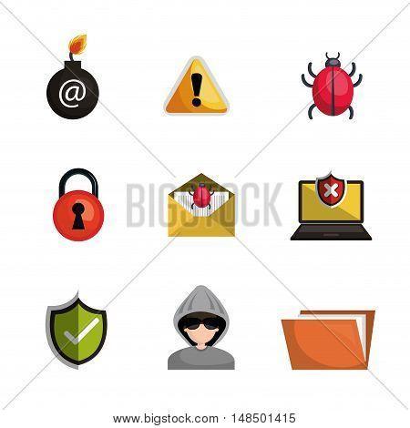 antivirus security file data system design vector illustration eps 10