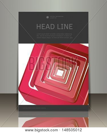 Vector business brochure or magazine cover template. Abstract design.