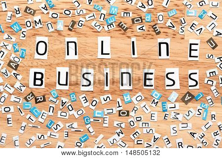 Business Online Words From Cut Out Letters