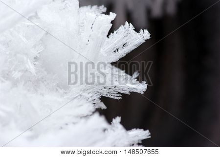 abstract background of ice structure