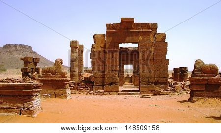 Ruins of Naqa Meroe ancient Kush Sudan