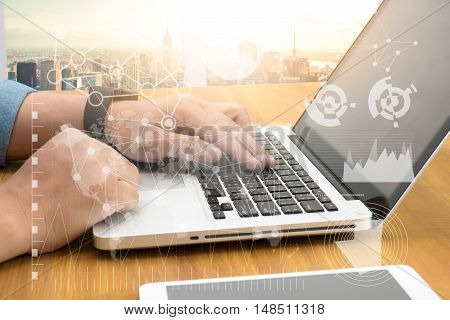 FINANCIALS SEARCH WEBSITE INTERNET SEARCHING businessman working