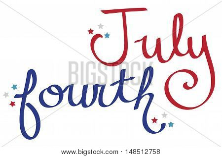 American Red White and Blue July Fourth