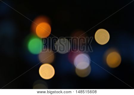 Abstract blurry bokeh background, lights blurred bokeh background, defocused bokeh lights background