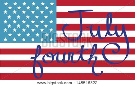 Red White Blue American July Fourth Flag