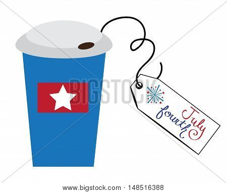 4th of July To Go Coffee Cup