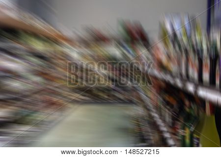 Shooting In The Store On A Moving Camera