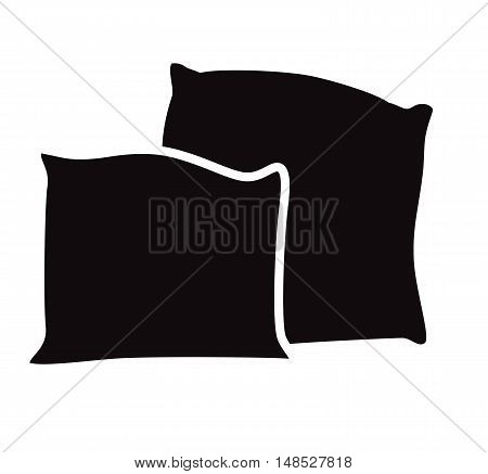 Pillow icon vector. Abstract vector pillow icon isolated on a white background - vector illustration. Pillow icon image. Pillow icon illustration. Pillow icon flat.