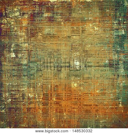 Antique texture, weathered background with vintage look and different color patterns: yellow (beige); brown; gray; green; red (orange); cyan