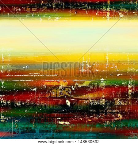 Old style distressed vintage background or texture. With different color patterns: yellow (beige); green; blue; red (orange); black; white