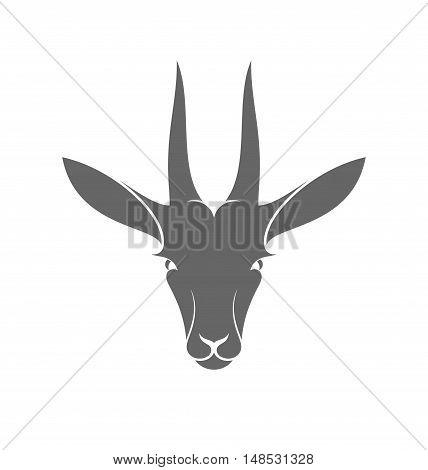 Isolated antelope on white background (EPS 10)