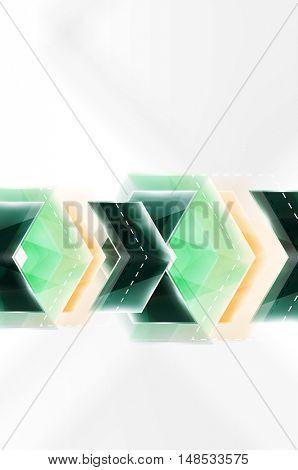 Colorful arrows composition. web brochure, internet flyer, wallpaper or cover poster design.