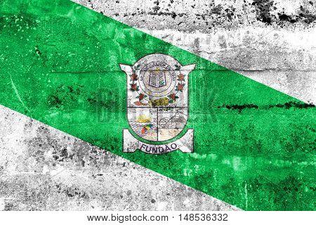 Flag Of Fundao, Espirito Santo State, Brazil, Painted On Dirty Wall