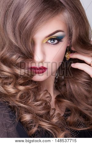 Beauty Portrait Of Woman With Professional Make Up