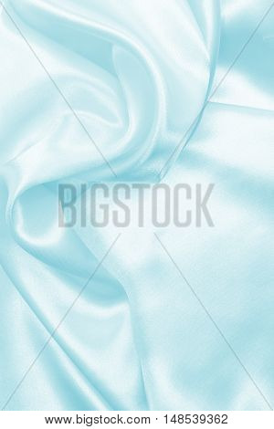 Smooth Elegant Blue Silk Or Satin Texture As Background