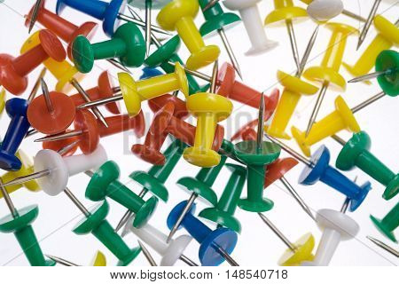 Color Pins On White