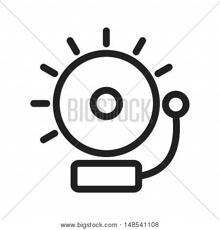 Alarm, emergency, siren icon vector image. Can also be used for warning caution. Suitable for use on web apps, mobile apps and print media.