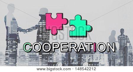 Achievement Connection Cooperation Graphic Concept