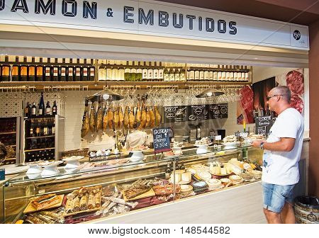 Sant Juan Market Interior Ham Cheese